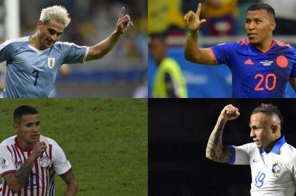 Nicolás Lodeiro, Roger Martínez, Derlis González y Everton