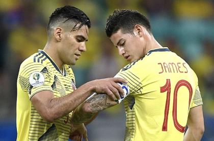 Falcao García y James Rodriguez
