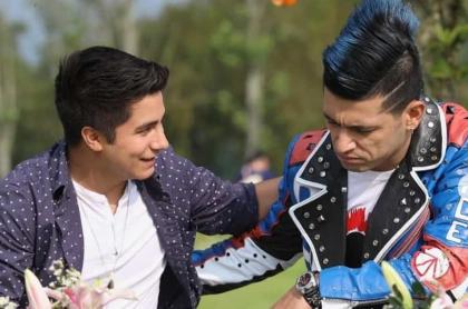 Jesús Forero y Santiago Alarcón, actores.