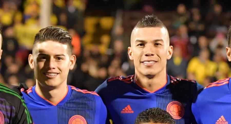 James Rodríguez y Mateus Uribe