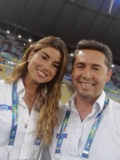 Luis Felipe Jaramillo y Marina Granziera, periodistas.