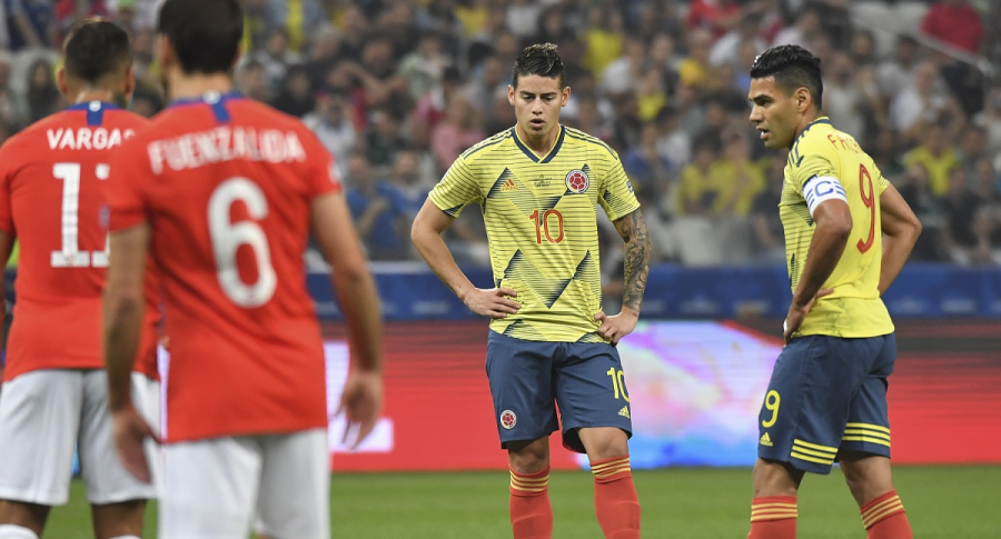 James Rodríguez y Falcao García, futbolistas.