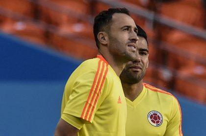 David Ospina, arquero, y Falcao García, futbolista.