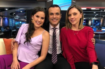 Linda Palma, Juan Diego Alvira y Catalina Gómez, presentadores.