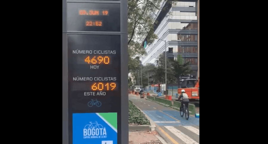 Dispositivo para contar ciclistas que transitan