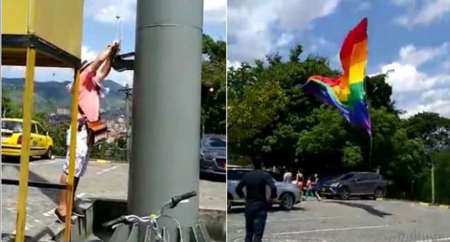 Bandera gay en Medellín