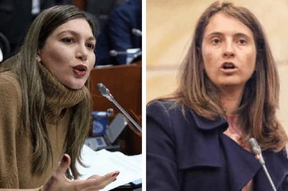 Senadoras Ruby Chagüi y Paloma Valencia