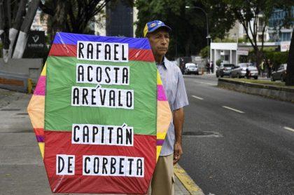 Protesta por muerte de capitán