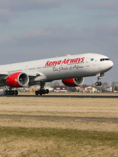 Avión de Kenya Airways