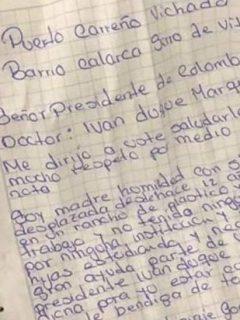 Carta dirigida a Duque