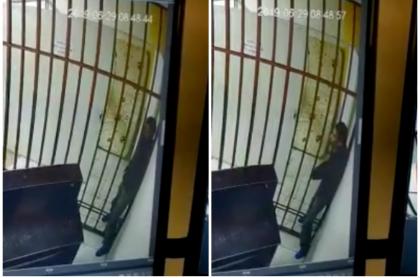 Ladrón escapa de una celda.