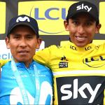 Nairo Quintana y Egan Bernal