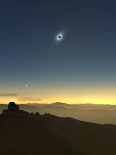 Eclipse de sol; junio de 2019.