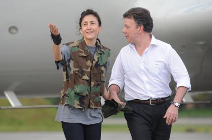 Íngrid Betancourt y Juan Manuel Santos en 'Operación Jaque'