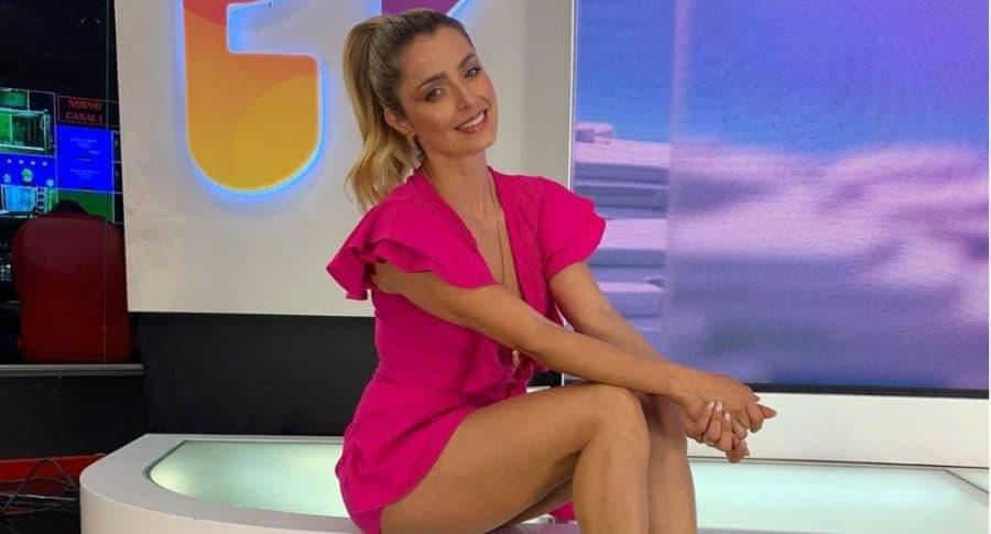 Cristina Hurtado, presentadora.
