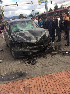 Accidente frente a Bulevar Niza