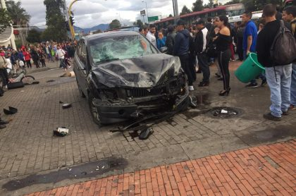 Accidente frente a Bulevar Niza