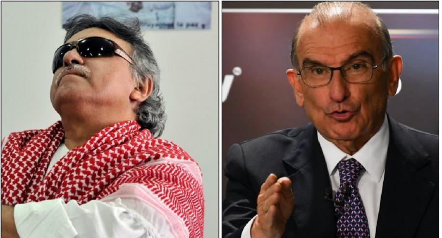 'Jesús Santrich' y Humberto de la calle