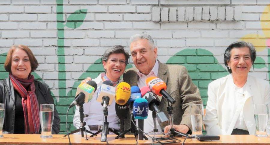 Claudia López y 'Lucho' Garzón