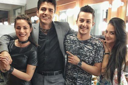 Juliette Pardau, Jimmy Vásquez, Sebastián Vega y Yuri Vargas, actores.