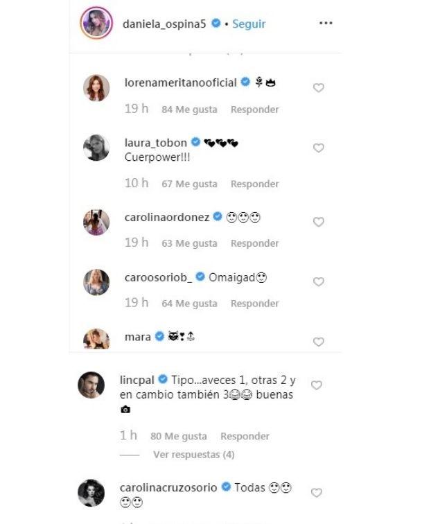 Comentarios post Daniela Ospina