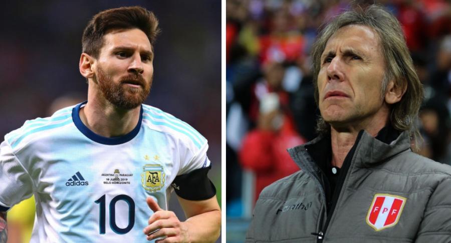 Lionel Messi y Ricardo Gareca