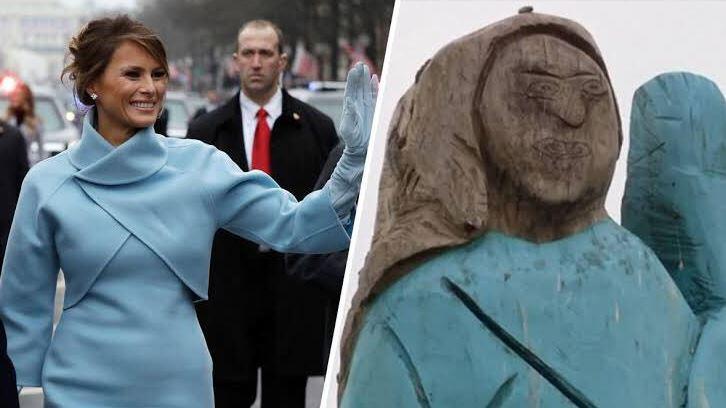 Melania Trump polémica estatua