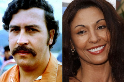 Pablo Escobar, narcotraficante, y Amparo Grisales, actriz.