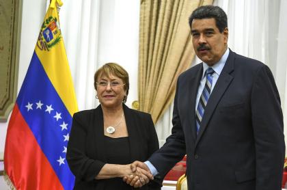 Michelle Bachelet y Nicolás Maduro