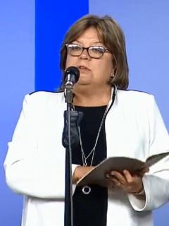 Gloria María Borrero e Iván Duque