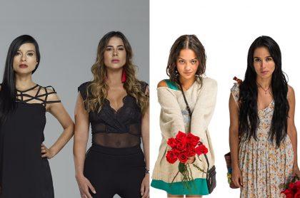 Paola Rey, Carla Giraldo, Natalia Reyes y Majida Issa, actrices.