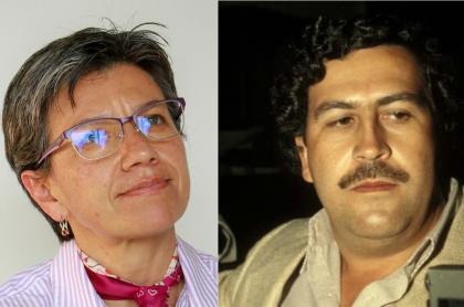Pablo Escobar y Claudia López