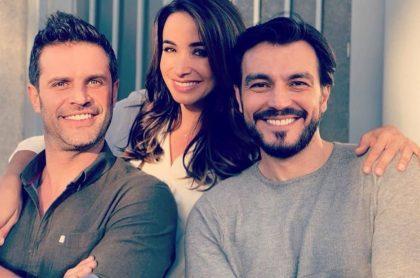 Mark Tacher, Majida Issa y Luciano D'Alessandro, actores.