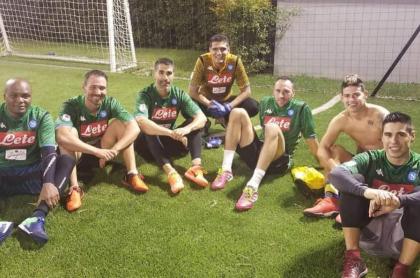 Aldair Quintana, David Ospina y James Rodríguez