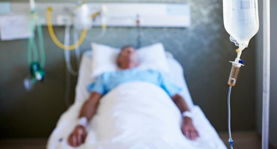 Paciente en hospital.