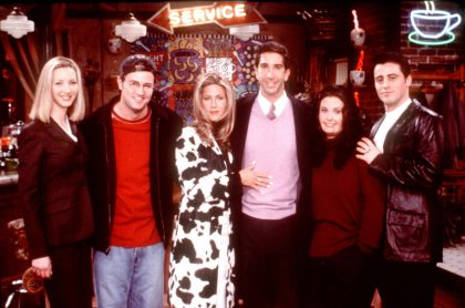 Lisa Kudrow, Matthew Perry, Jennifer Aniston, David Schwimmer, Courteney Cox Arquette y Matt Leblanc, de 'Friends'.