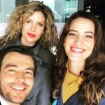 Lina Tejeiro, Mabel Moreno, Laura Londoño y Luciano D'Alessandro, actores.