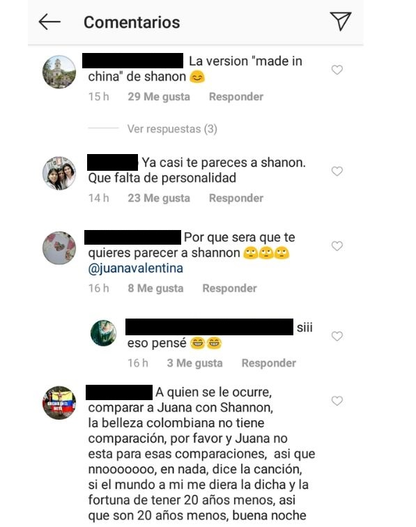 Comentarios post Juana Valentina