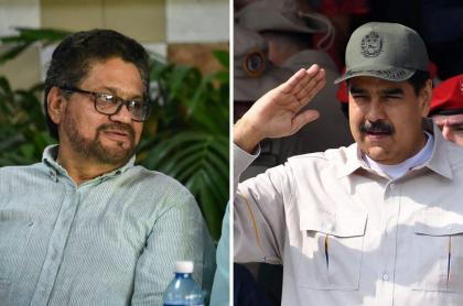 'Iván Márquez' y Nicolás Maduro