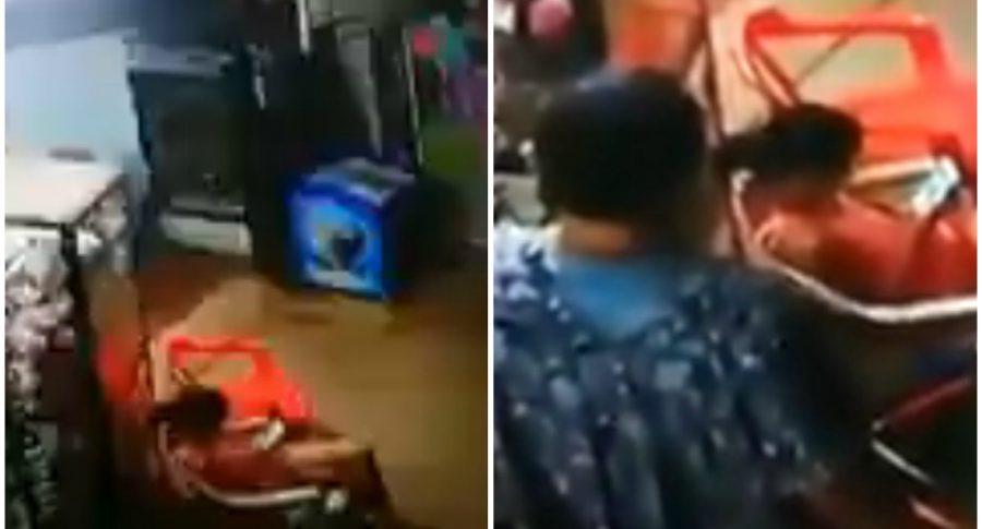 Sharick Alejandra estaba en un local comercial.