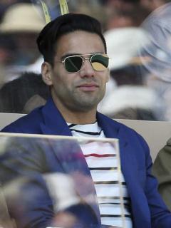 Falcao García, futbolista, y Lorelei Tarón, cantante.