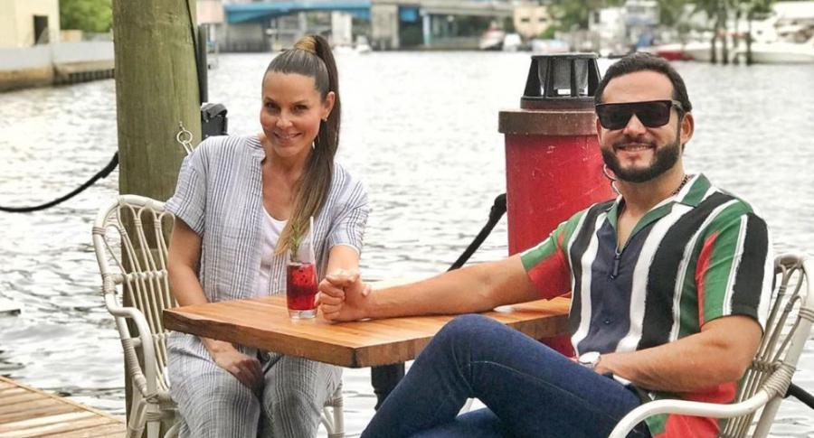 Paula Andrea Betancur, exreina, con su esposo Luis Miguel Zabaleta, dermatólogo.