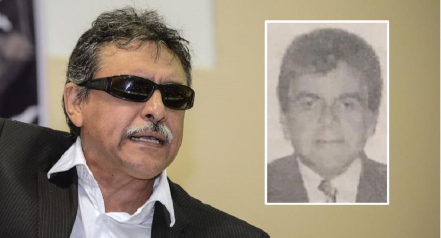 'Jesús Santrich' y  Armando Gómez España