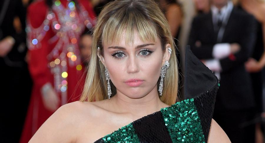Miley Cyrus, cantante.