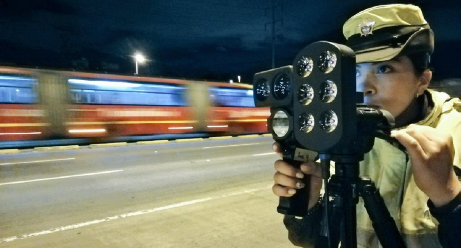 Control de velocidad en Bogotá