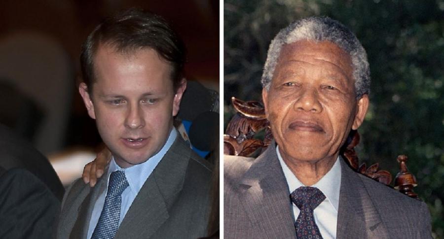 Andrés Felipe Arias y Nelson Mandela