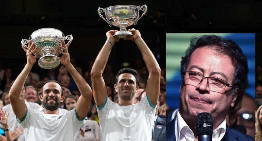 Petro y tenistas-colombianos