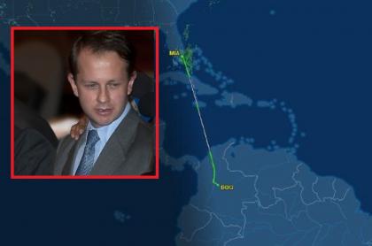 Andrés Felipe Arias y ruta de Miami a Bogotá