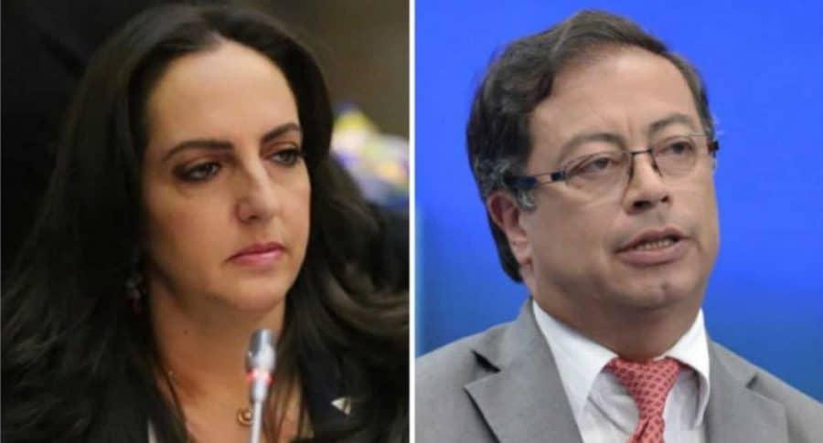María Fernanda Cabal y Gustavo Petro