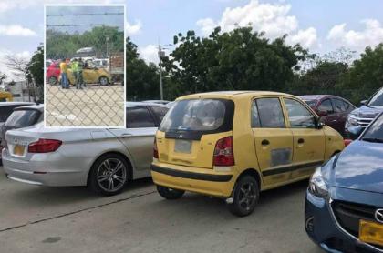 Bebé abandonada en taxi